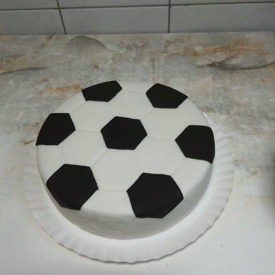 Gimtadienio Tortas Futbolo Kamuolys